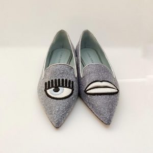 SLIPPER CHIARA FERRAGNI POINTED LIGHT BLUE