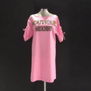 Vestido algodon rosa moschino