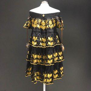 Vestido formentera bordado en oro