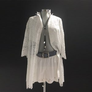 camisa redobré en macramé