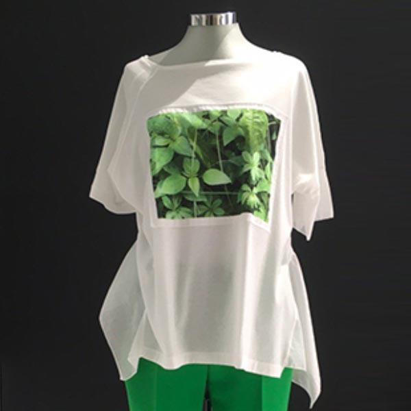 camiseta arte verde