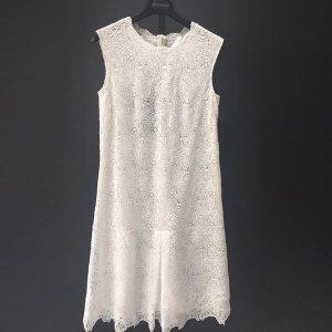 vestido macramé