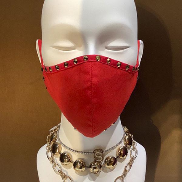 mascarillas roja cristales plata